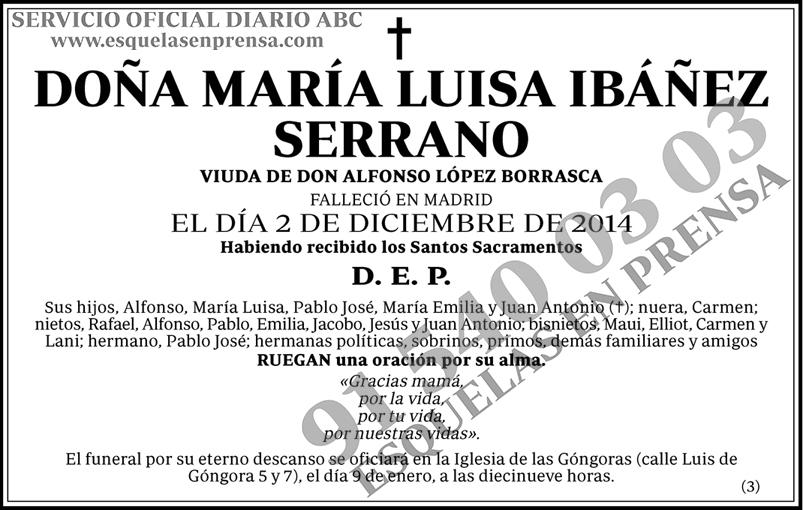 María Luisa Ibáñez Serrano